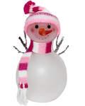 Снеговик на светодиодной подсветке.  Размер 105*55мм