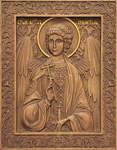 Икона резная Ангел Хранитель