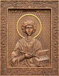 Икона резная Святой великомученик и целитель Пантелеймон