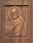 Икона резная Святой <strong>вышивка</strong> преподобный Серафим Саровский