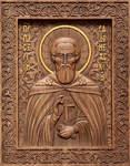 Икона резная Преподобный Сергий Радонежский