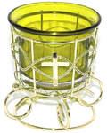 Лампада на подставке желтая