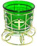 Лампада на подставке зеленая