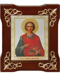 Икона Святой великомученик и целитель Пантелеймон, в деревянной рамке