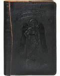 Обложка для паспорта Ангел-хранитель. Тиснение на коже Псалом 90, м-ва Ангелу-хранителю