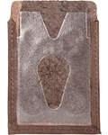 Обложка для социальной, транспортной, кредитной карты с тиснением молитвы кресту, цвет коричневый. Кожа
