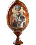 Сувенир Яйцо Николай Чудотворец на подставке