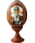 Сувенир Яйцо Николай Чудотворец на подставке. В ассортименте