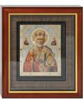 Икона Святитель Николай аналойная малая. Киот, багет, стекло
