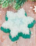 Мыло в форме снежинки