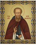 Икона аналойная малая св. прп. Сергий Радонежский. Дерево, ручное золочение (поталь)