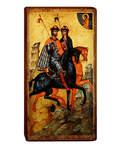 Икона свв. блгвв. кнн. Борис и Глеб на деревянной основе