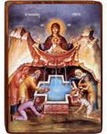 """Икона Божией Матери """"Живоносный Источник"""" на деревянной основе"""