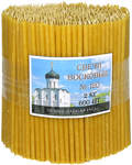 Свечи церковные воскосодержащие (50% воска) № 120, 2кг (600шт в пачке, размер свечи 160 х 5мм)