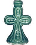 Подсвечник Крест керамический. Диаметр отверстия 10мм