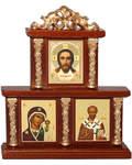 Иконостас Спаситель, Пресвятая Богородица Казанская, Николай Чудотворец