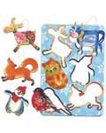 Набор рождественских подвесок (6 штук, мдф)