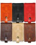 Футляр для пластиковых карт 16+1 (натуральная кожа). Цвет темно-коричневый