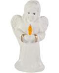 Ангел со свечой (с блестками, гипс)