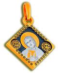Икона двухсторонняя Святой благоверный князь Александр Невский, серебро с чернью и позолотой 5 мкр. Au 999