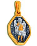 Икона двухсторонняя Архангел Михаил, серебро с чернью и позолотой 5 мкр. Au 999