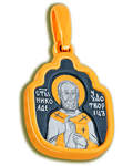 Икона двухсторонняя Святитель Николай Чудотворец, серебро с чернью и позолотой 5 мкр. Au 999