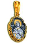 Икона двухсторонняя Пресвятая Богородица Семистрельная, серебро с чернью и позолотой 5 мкр. Au 999