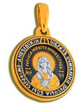 Икона двухсторонняя Пресвятая Богородица Дивеевская (Умиление) - Святой преподобный Серафим Саровский, серебро с чернью и позолотой 5 мкр. Au 999