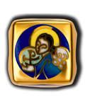 Бусина Ангел Хранитель, серебро с чернью, позолотой 5 мкр. Au 999 и эмалью