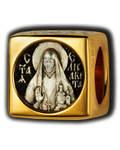Бусина Святая Преподобномученица Елисавета, серебро с чернью, позолотой 5 мкр. Au 999, эмаль