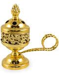 Кадильница металлическая. Цвет золотой