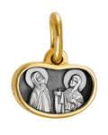 Икона Святые Благоверные Петр и Феврония Муромские (cеребро 925 пробы, позолота 999 пробы)