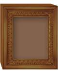 Киот аналойный с рамкой, пенал (для иконы 17,5х21см)