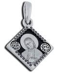 Икона двухсторонняя Святой благоверный князь Александр Невский, серебро с чернью