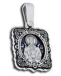Икона двухсторонняя Пресвятая Богородица Неупиваемая Чаша - Святой Алексий, Митрополит Московский, серебро с чернью