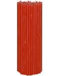 Свечи церковные красные (50% воска) №20, 2кг (100шт в пачке, размер свечи 300 х 10мм)