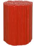 Свечи церковные красные (50% воска) №80, 2кг (400шт в пачке, размер свечи 185 х 6мм)