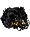 Гайтан шелковый с замком закруткой, черный. Длина 60см, упаковка 100шт