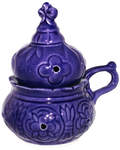 Кадильница настольная, цвет синий, керамика
