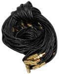 Гайтан черный с замком закруткой. Длина 60см, упаковка 10шт