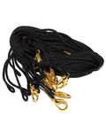 Гайтан черный с замком карабином. Длина 60см, упаковка 10шт