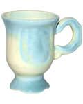 Кружка керамическая для святой воды, цветная глазурь, 70мл