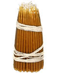 Свечи восковые конусные №0 (100шт, длина 140мм, толщина основания 5мм)