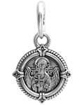 Икона Ангел Хранитель -  Хризма, серебро с чернью (Ag 925)