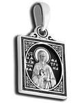 Икона двухсторонняя Святая блаженная Матрона Московская, серебро с чернью