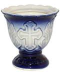 Лампада керамическая, цвет синий