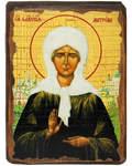 Икона под старину Святая блаженная Матрона Московская