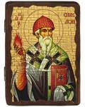 Икона под старину Святитель Спиридон Тримифунтский