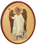 """Икона """"Святой Ангел Хранитель"""" малая аналойная, овальная"""