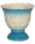 Лампада керамическая, цвет голубой
